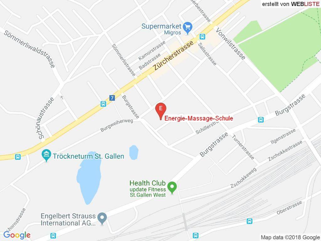 Standort Energie-Massage-Schule in 9000 St. Gallen