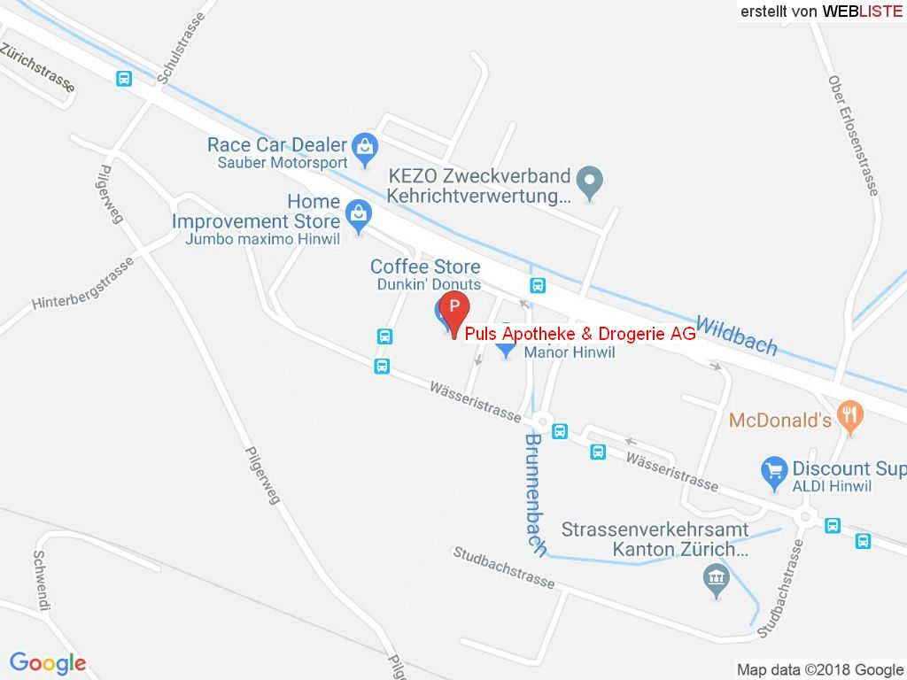Standort Puls Apotheke & Drogerie AG in 8340 Hinwil