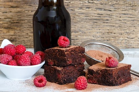 Himbeer Brownie Kuchen